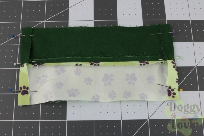 Fold ends and pin in place