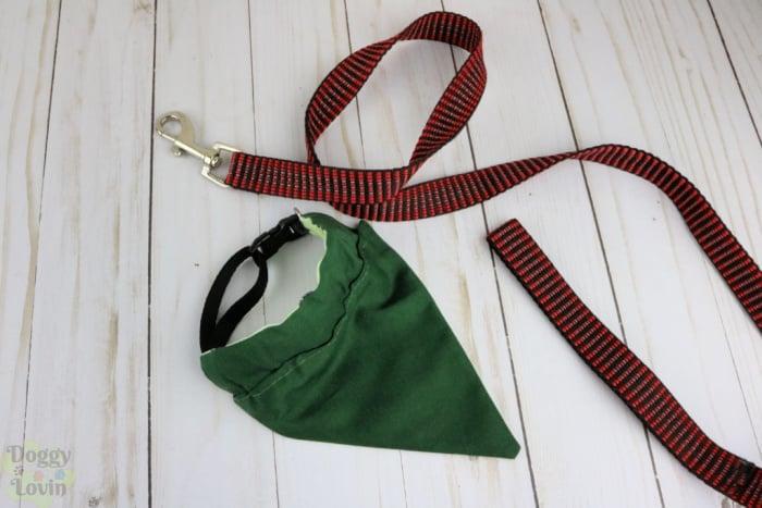 Green side of bandana collar