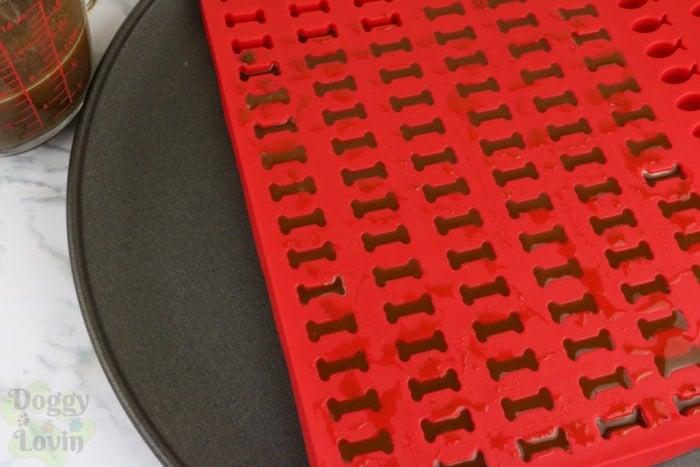 Pour mix into mold