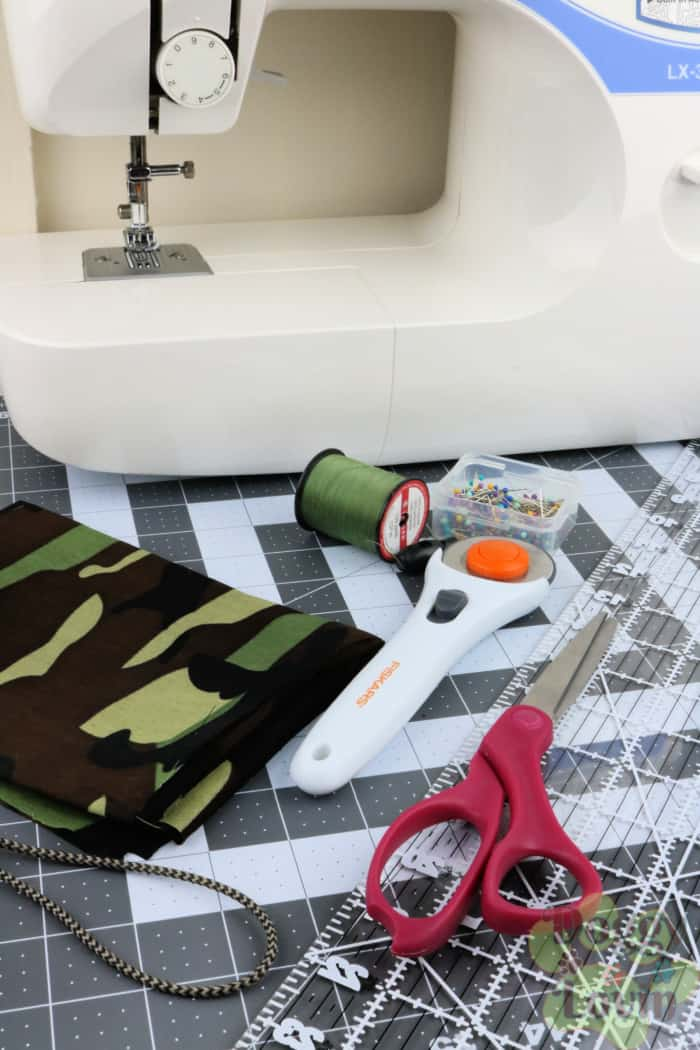 Supplies needed to make pouch