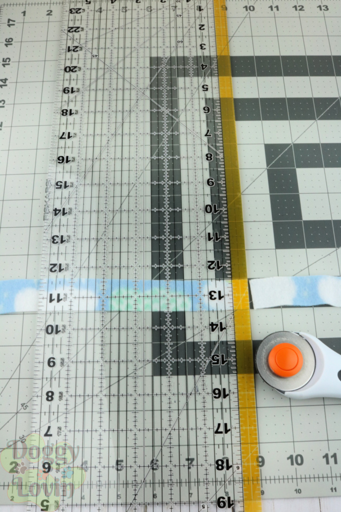 Cut strips into sections