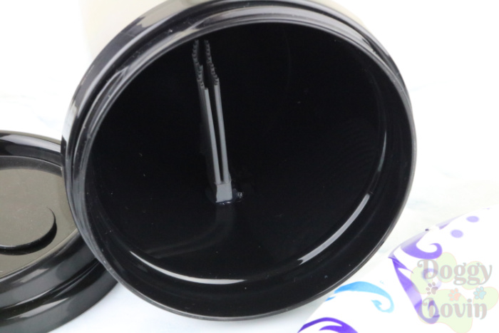 Glue brush to inside side of cup
